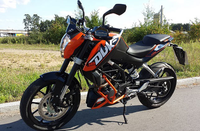 KTM Duke 125 mit ABS